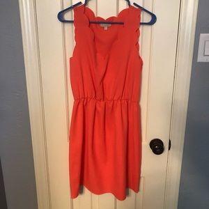 Gianni Bini Scalloped Coral Dress